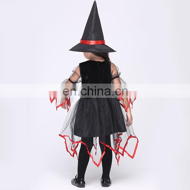 Fctory direct sale halloween style witch cosplay costume for girls