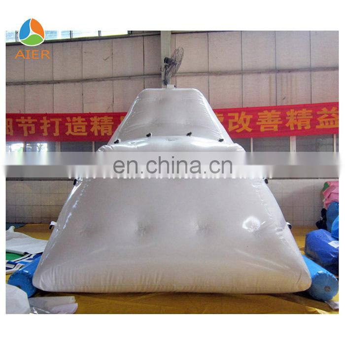Floating inflatable iceberg water toy for water park