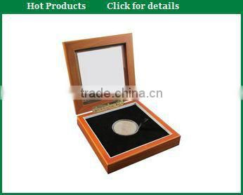 Elegant Fancy Wooden Silver coin Display Box for Gift