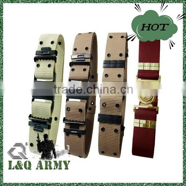 Army khaki tactical outdoor police security utility waist belt