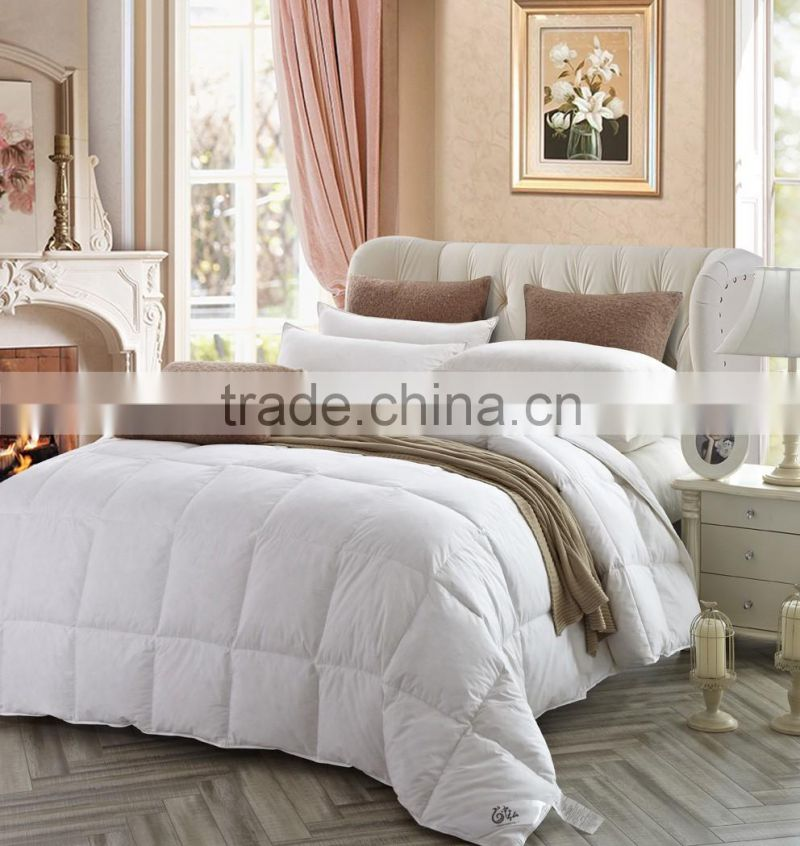 High quality luxury factory made goose down quilt goods from china