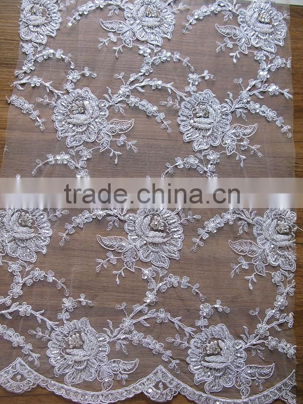 2016 Best selling top quality african swiss voile lace high quality new arrival/latest tulle fabric