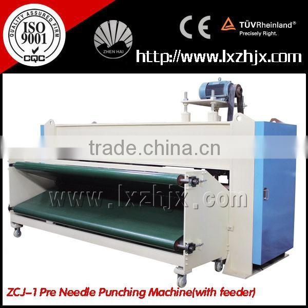 WJM-3 nonwoven glue free wadding and ZCJ-1000 needle punching production line