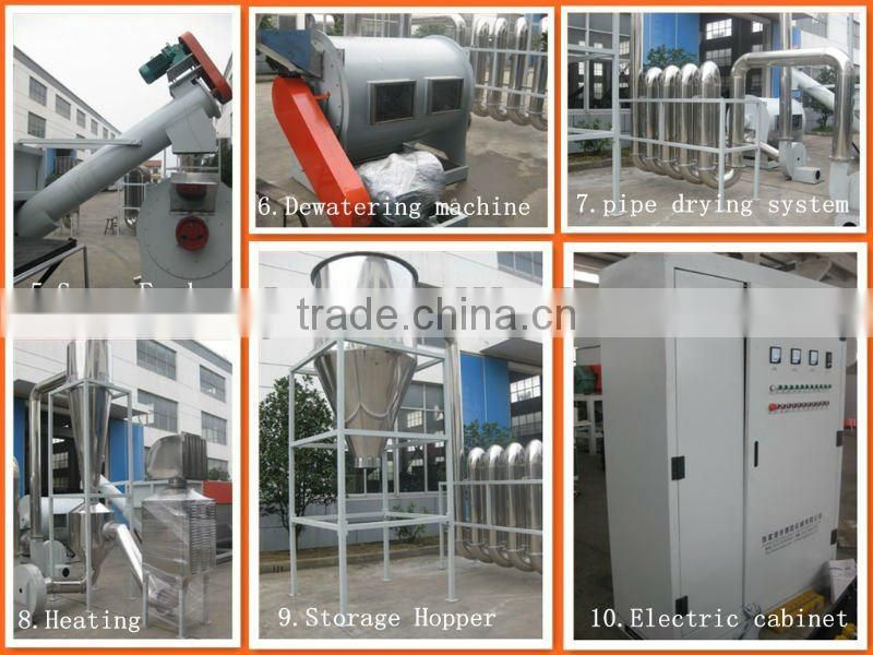 High Quality Plastic Pet Bottle Hot Washing Recycling Plant