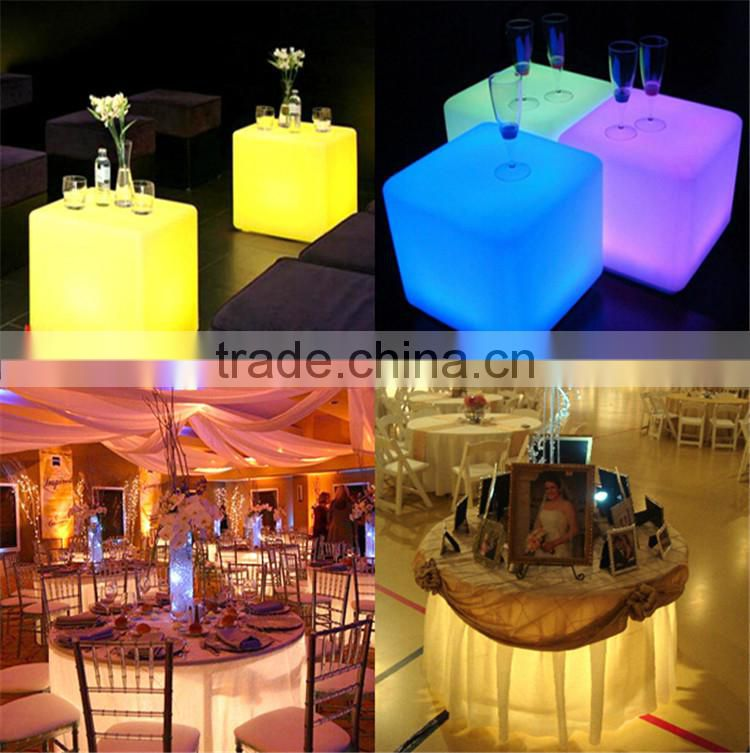 wedding table decorations centerpiece under table led light