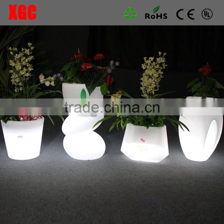 Outdoor plastic decorative flower pots planter GD113
