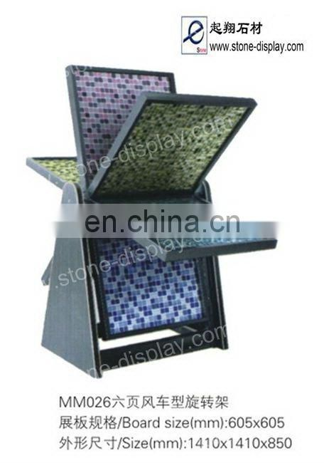 Different shape tumbled stone display