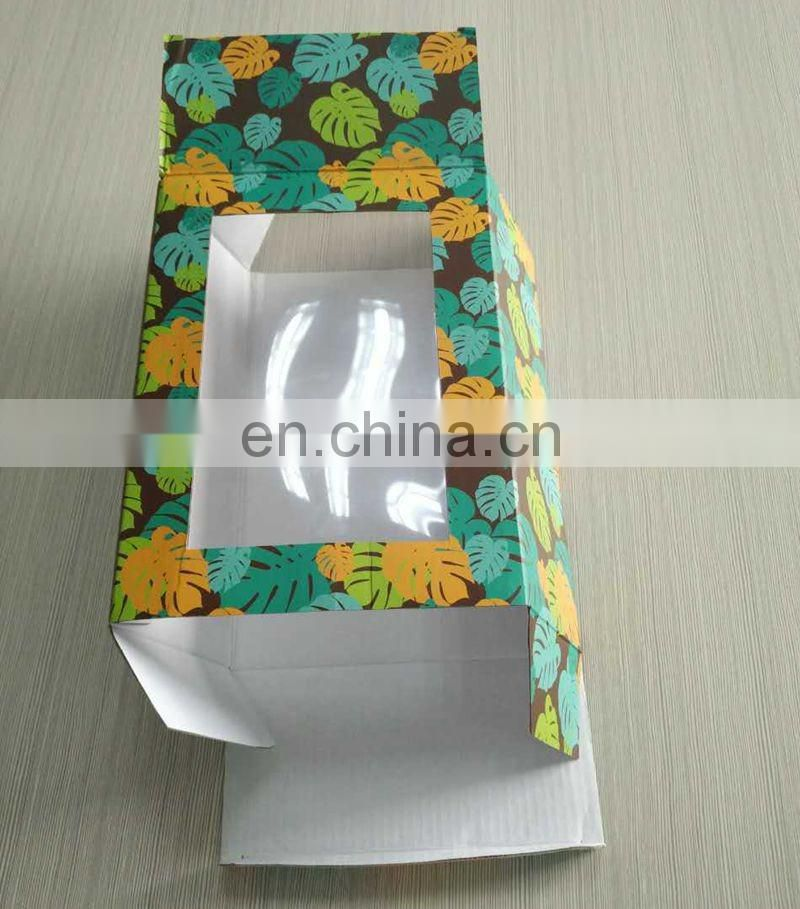 E- flute Corrugated Paper Coffe Mag Box With Clear Pvc Winder And foam