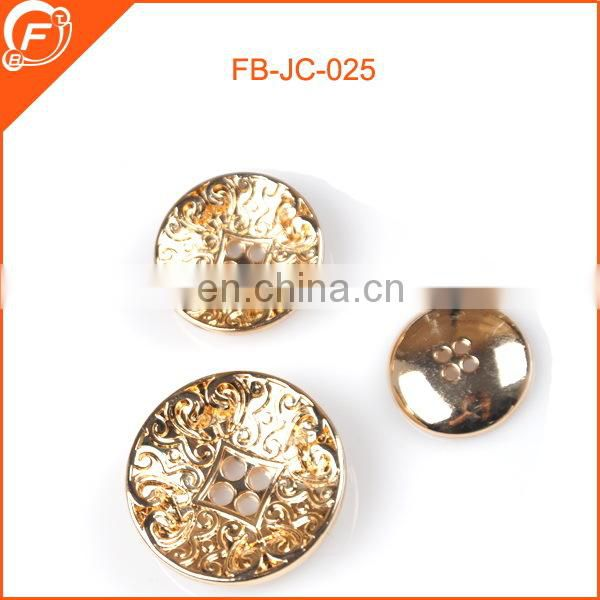 chinese four hole abs gold button for garments