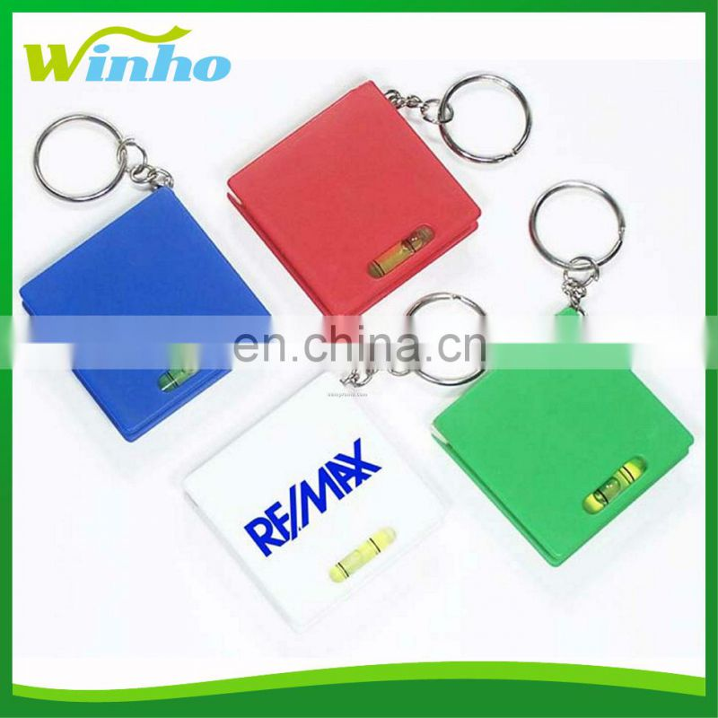 Winho retractable square level Tape Measure key tag