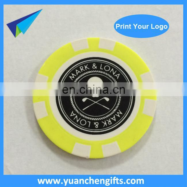 2016 ABS Cheap Plastic Poker Chips Custom Laser Sticker Poker Chips