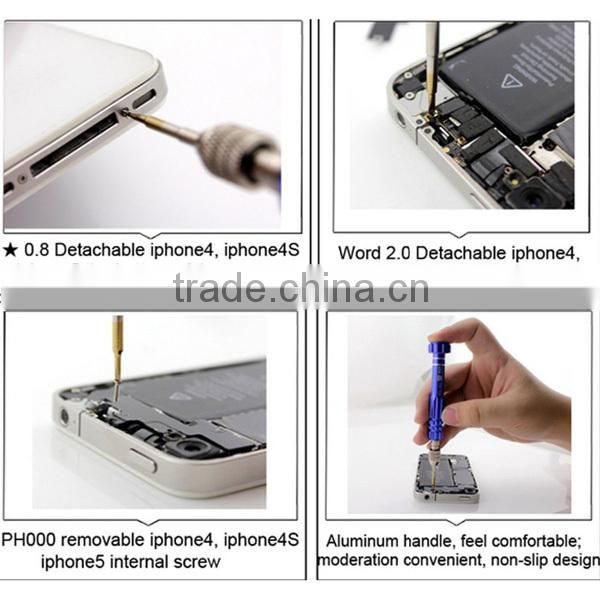 5 in 1 Screwdriver Set Mobile Phone Repair Tool Kit for Samsung iPhone 4 4s 5 6 Plus