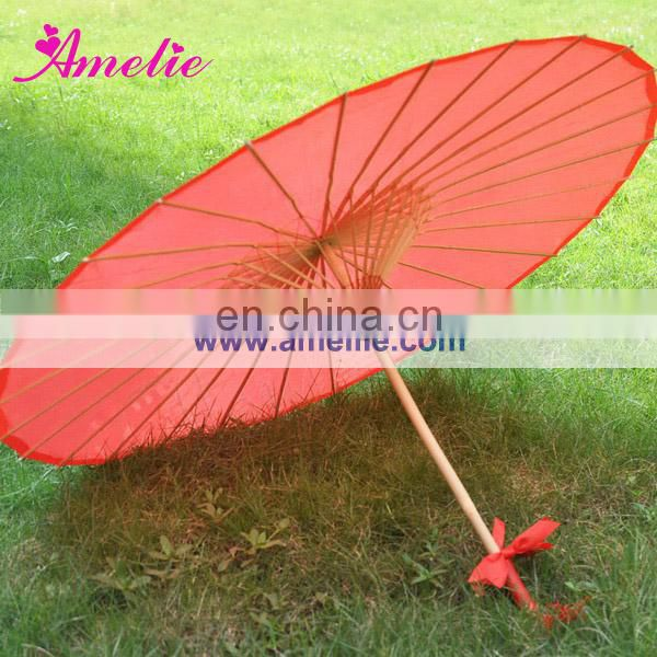 A6264 Red silk chinese umbrella bamboo