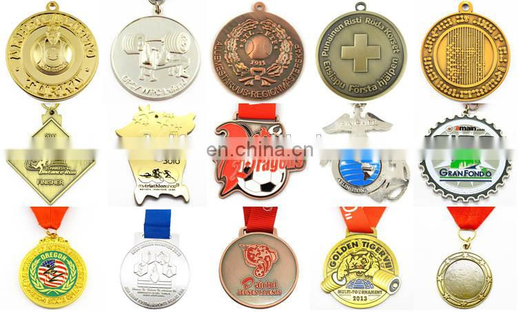 3D embossed gold silver copper blank gold metal football shape asian cup sport medal
