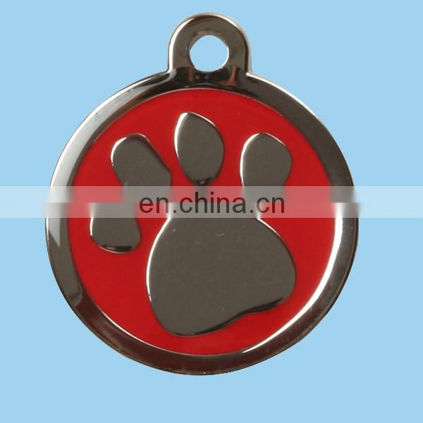 custom metal engraved dragon dog tag with ball chain