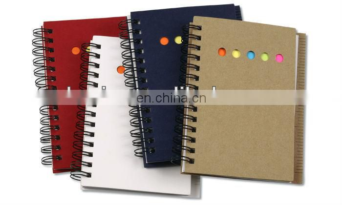 Spiral Notebook with Ruler, Kraft Cover Spiral Notebooks, Spiral Notebook with Ribbon