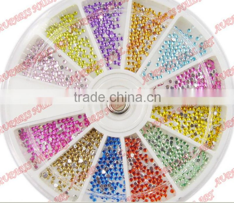 Diamond false nail rhinestone acrylic nail art 12 2.0mm diamond box finger drill mobile phone beauty