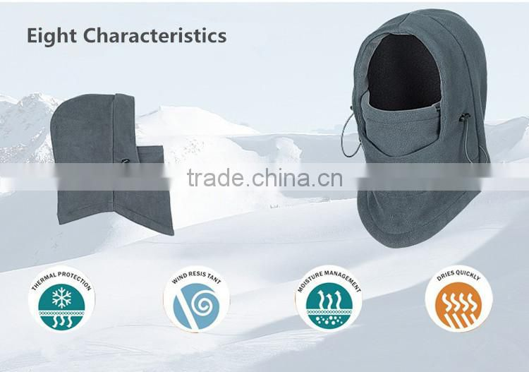 Polar Fleece Winter Hat, CS Cap, Face Mask, Windproof Head Cover