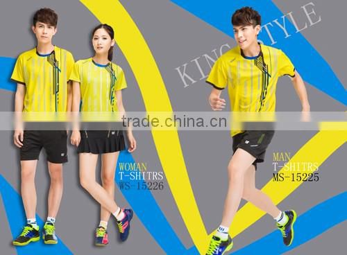 new style Professional customized ,Badminton wear shirt WS-16220