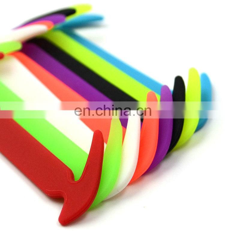 Hot sale colorful silicone shoelaces