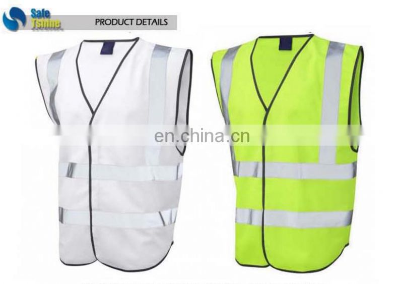 Reflective vest good quanlity white safety vests