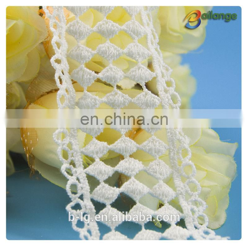 Colorful lace fabric for cloth Guangzhou fashion cotton lace machine