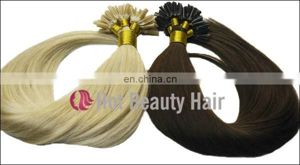 Moderate cost nano bead human hair extensions