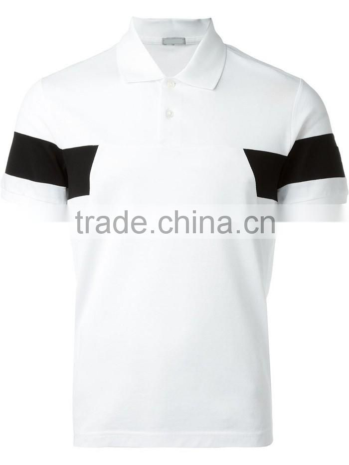 OEM new design color combination sports polo shirt with customized logo