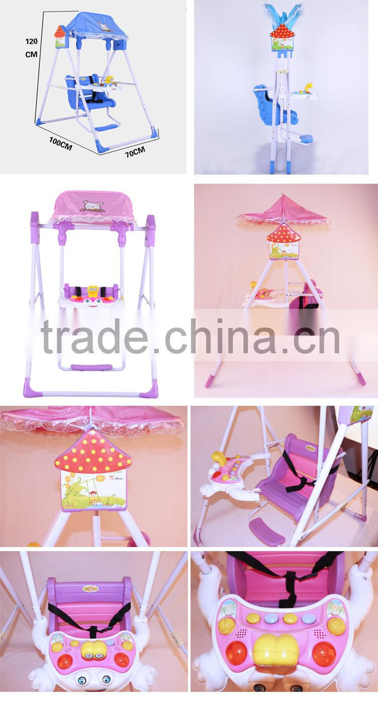 Hot folded plastic outdoor indoor toy---baby swing kids swing with music canopy ...  sc 1 st  China Suppliers & Hot folded plastic outdoor indoor toy---baby swing kids swing with ...