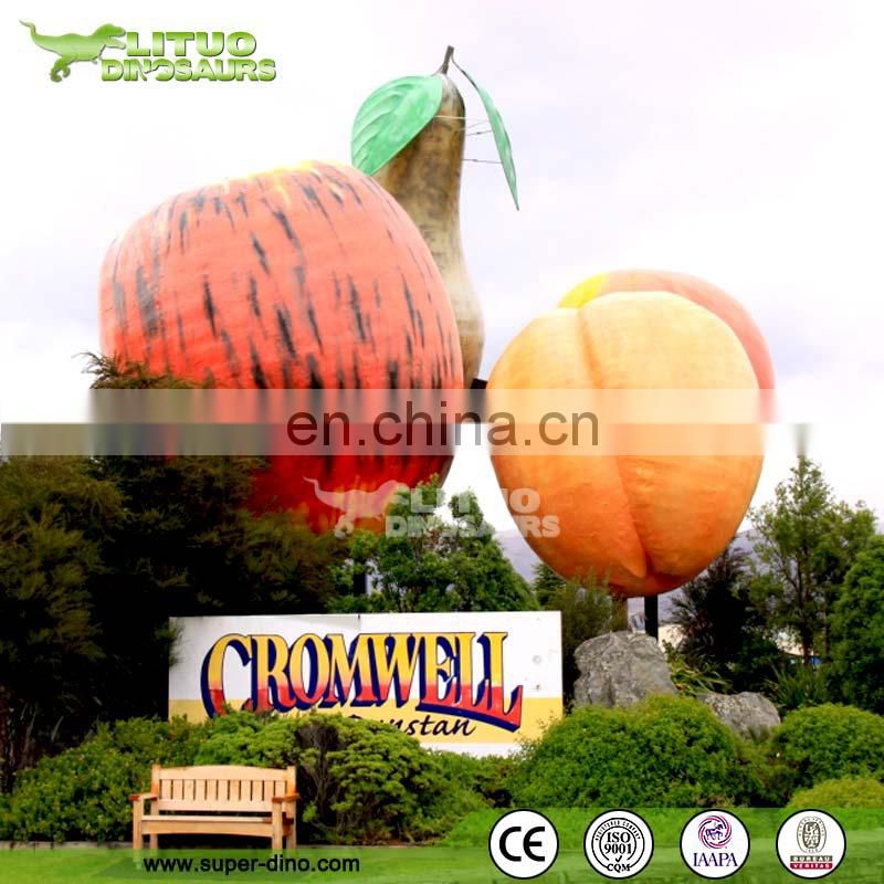 Large Size Fiberglass Fruit Sculpture Apple