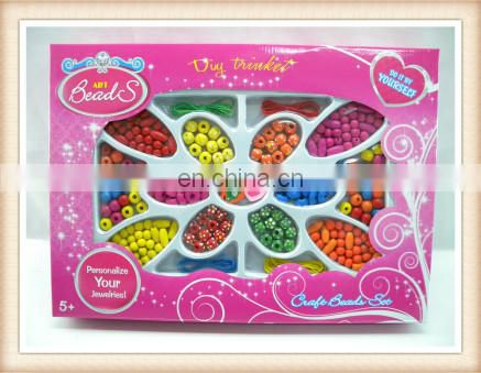 kids beauty jewelry toy diy multi colored wooden beads