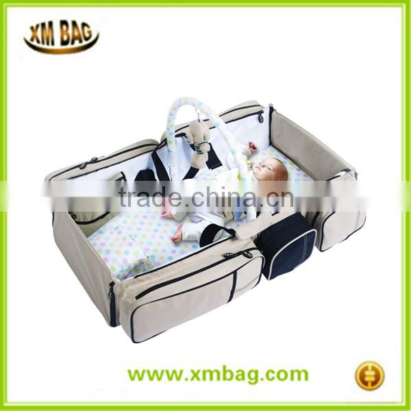 Baby Travel crib and Magical Baby Bag- 9 in 1 Multifunctional Baby Travel Bed Cot Baby Bassinet and Diaper Bag baby changing mat