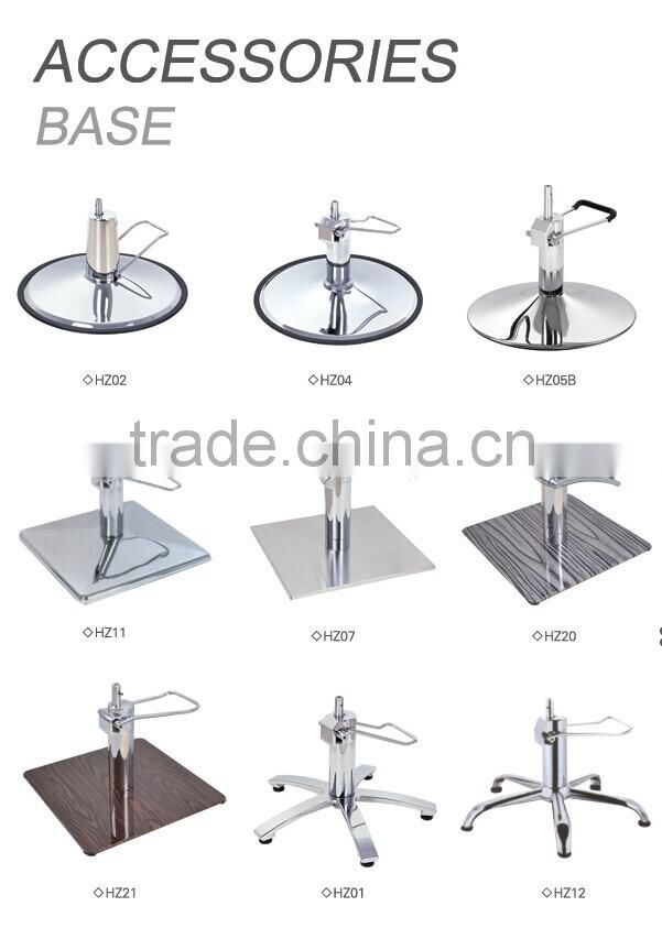 2015 easy assembly stainless steel square hydraulic barber chair base