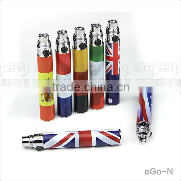 Micro usb passthrough battery for ego N 1100mah color ecig battery