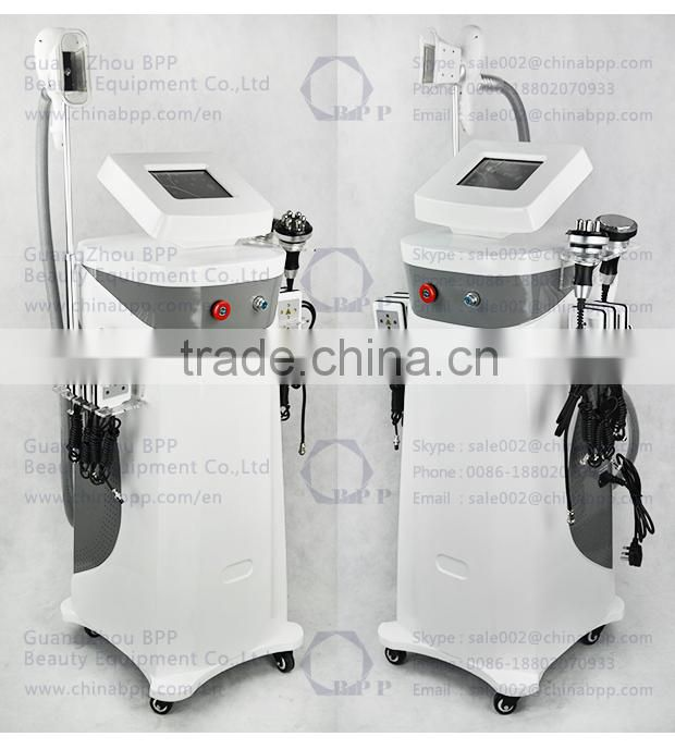 Ultrasonic Vaccum Cavitation RF Laser Freckle Removal Wrinkles Around Eyes Remover Lipolysis Body Slimming Machine