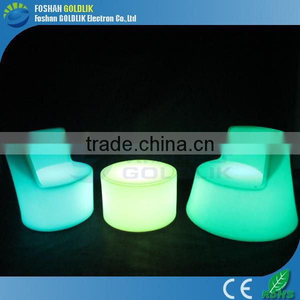 Morden Folding Light Furniture RGB Color LED Table and LED Chairs