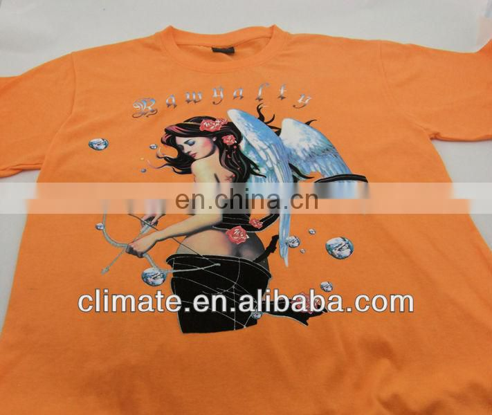 T-shirts with offset&flocking printing,100% cotton single jersey T-shirts