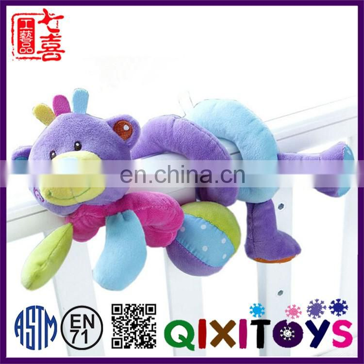 High quality professional production custom made baby comforter toy handmade soft jolly baby toy