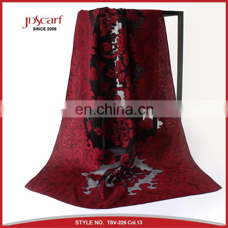 NEW design China manufacturer spring autumn swissdot pashmina beautiful ladies fashion accessory multicolor scarf