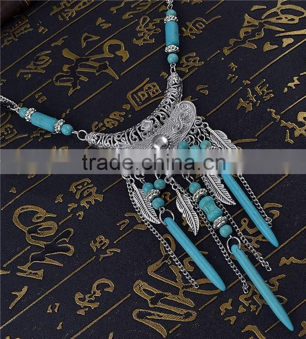 Wholesale multi layer bead necklace/tassel necklace pendant bead beaded fringe turkish