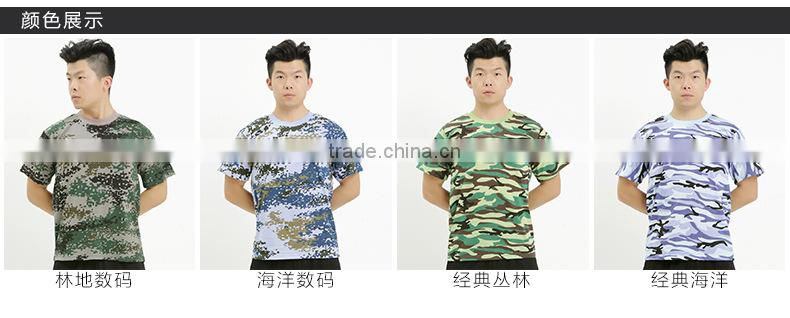 Fashion 2016 Man Casual Camouflage T-shirt Men Cotton Army Tactical Combat T Shirt Military Sport Camo Camp Mens T Shirts