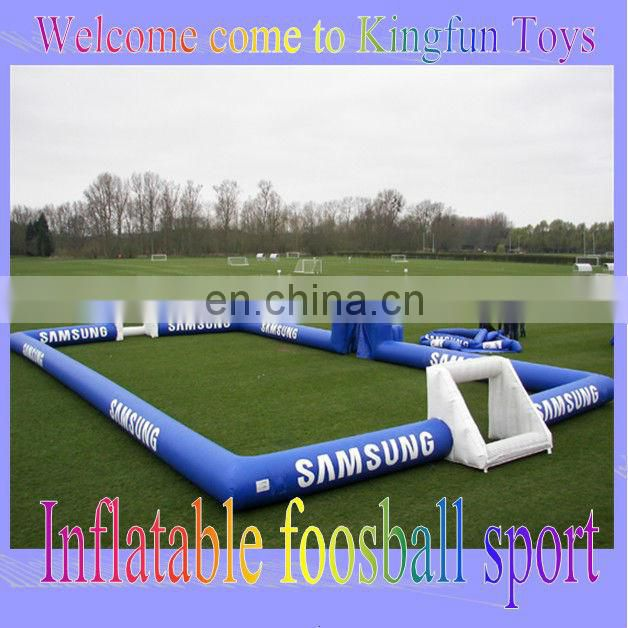 Hot selling table inflatable human football court game