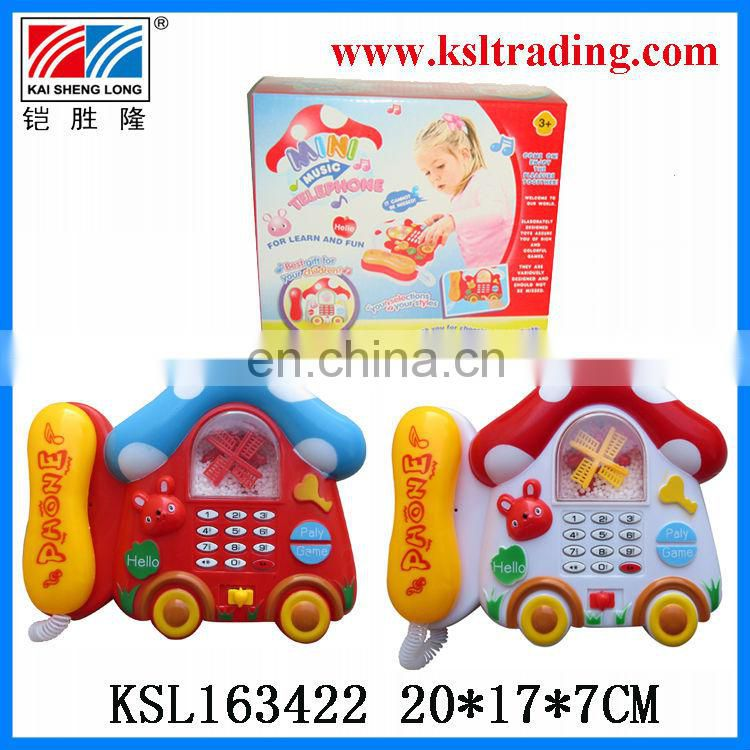 mini music snowflake plastic telephone toy for sale