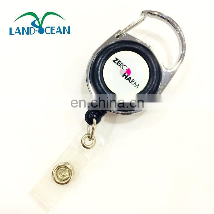 Retractable badge holder pull reel