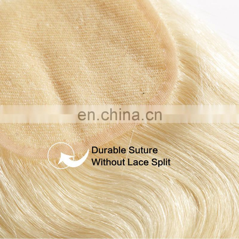 "High Quality 4*4""inch #613 Blonde Closure Lace Brazilian Human"