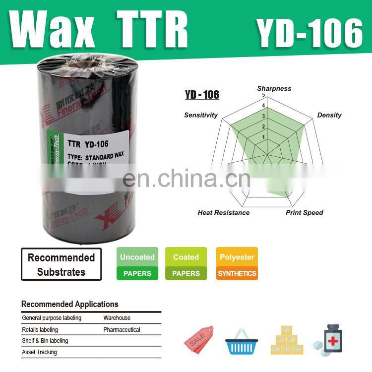 General Purpose Wax Thermal Ribbons 110mm*90m---black with 1Inch core