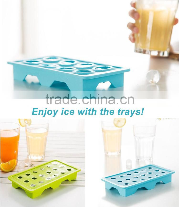 Wholesale new premium personalized ice cream maker silicone ice cube tray