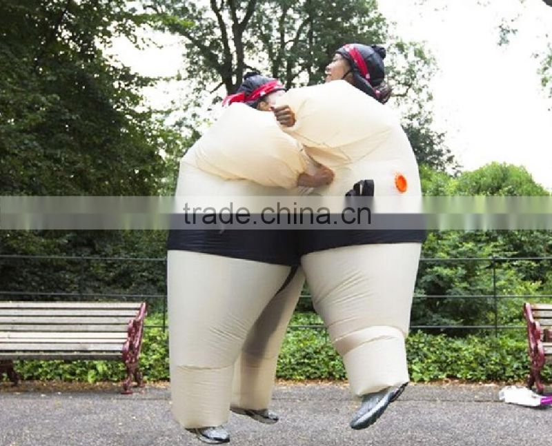 SELF Inflatable Sumo Suit & Hat Fancy Dress Wrestling Costume Battery Operated