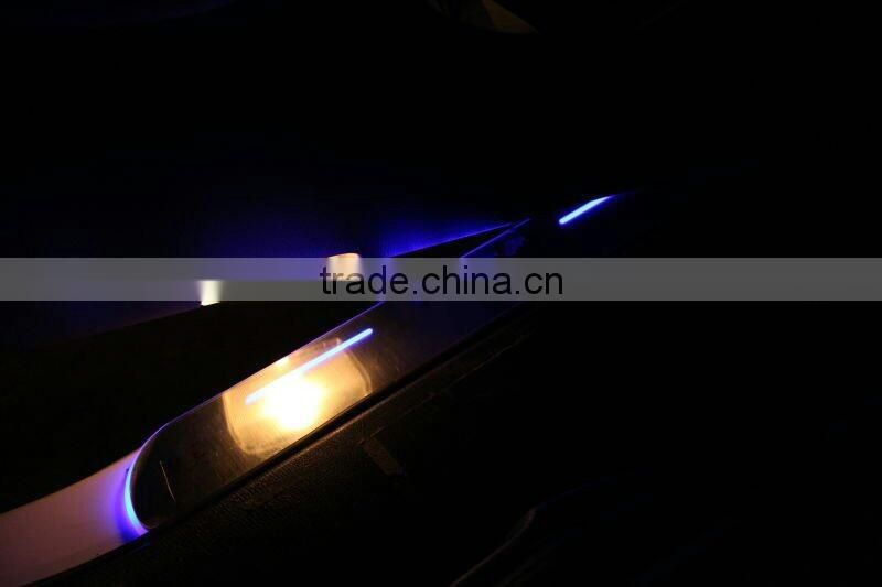 for AUDI A4L B9 A6L C7 A7 LED door sill with led car covers strip welcome pedal auto accessories car styling LED door sill