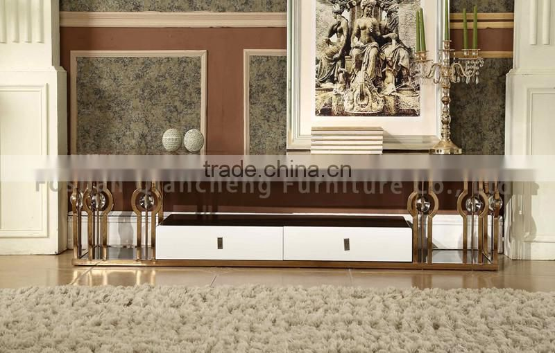 Antique Gold Tv Stand Marble Top With Cabinet Of Tv Stand From